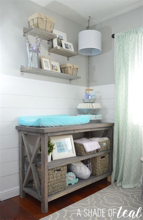 White Rustic Grey Changing Table Diy Projects