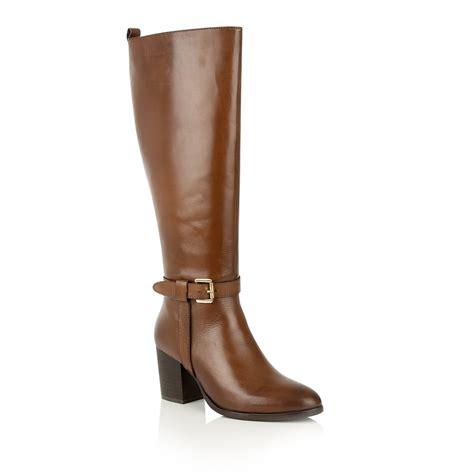 cognac leather boots buy ravel waller knee high boots in cognac