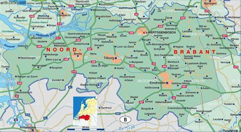 brabant netherlands map map of brabant netherlands map in the atlas of