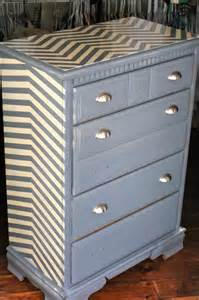Old dresser refinished with chevron painting pattern bigdiyideas com