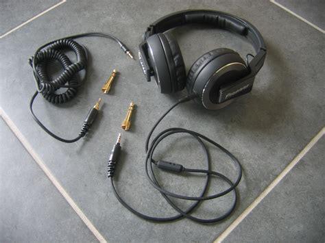hdj 500 cable pioneer hdj 500 black dj headphones review image