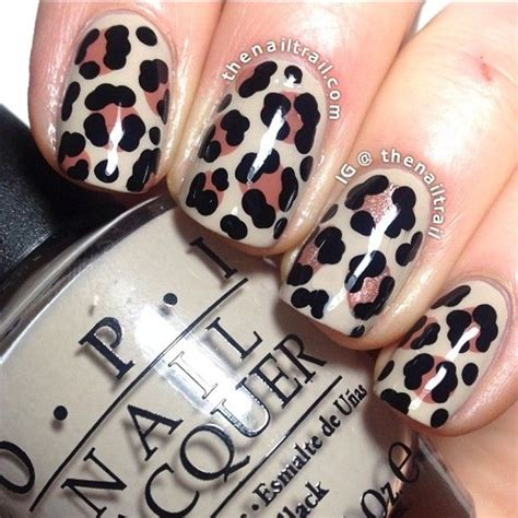Leopard Pattern Nail Art | 20 fabulous leopard nail art designs for women pretty