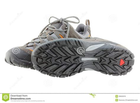 day hiking shoes lightweight day hiking boots shoes royalty free stock