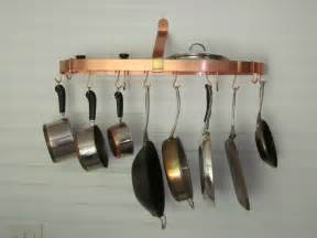 Kitchen Wall Hangers For Pots And Pans Adorable Hanging Circle Pot Rack Design Made From Copper
