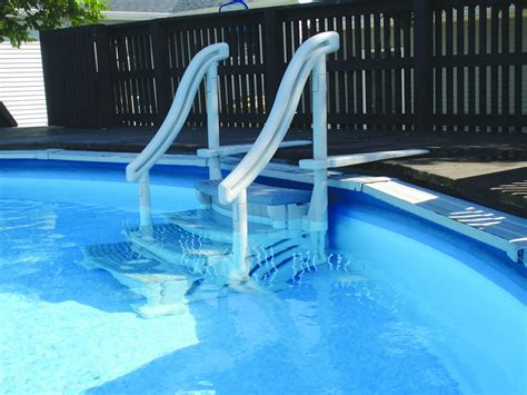 confer curve above ground pool entry step new quot fast ship