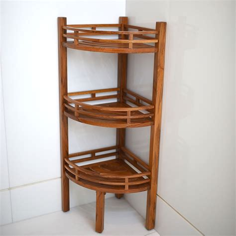 teak bathroom shelf teak corner bathroom shelf thedancingparent com