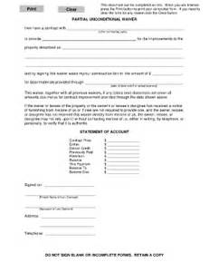 Partial Lien Waiver Template by Partial Waiver Of Lien Form Ny Fill Printable