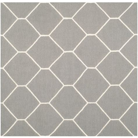 6 ft area rugs safavieh dhurries grey ivory 6 ft x 6 ft square area rug dhu635b 6sq the home depot