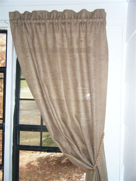 burlap curtain panel 45 best curtains images on pinterest burlap curtains