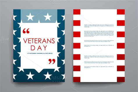 Template Veterans Day Brochure Templates 187 Logotire Com Veterans Day Program Template
