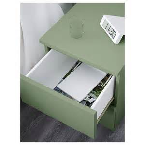 malm chest of 2 drawers light green 40x55 cm ikea