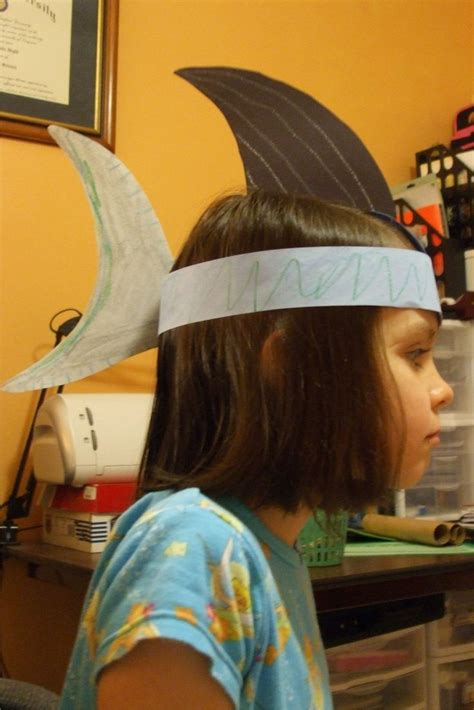 How To Make A Paper Shark Hat - susan s site shark hat craft planning