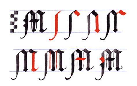 how to m more gothic writing capital gothic letters a z