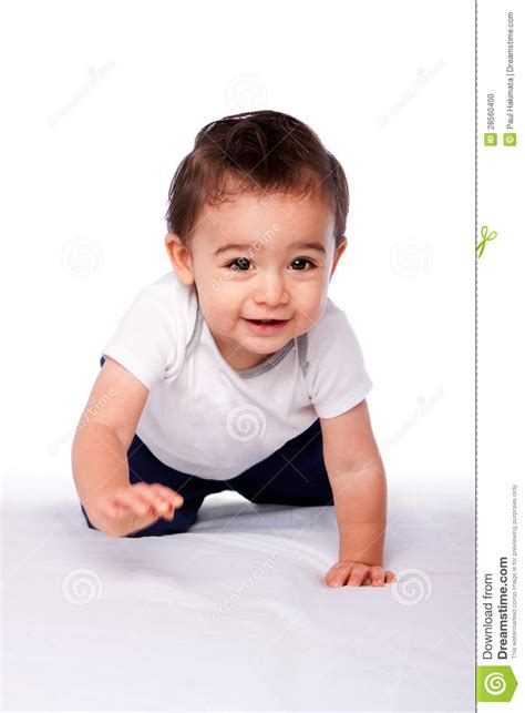 Happy Baby Crawling happy crawling baby toddler stock photo image 28560400