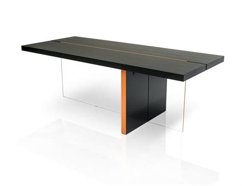 modern breakfast table modrest vision modern black oak floating dining table