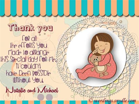 Baby Shower Gift Note by Thank You Messages For Baby Shower Messages And Gifts