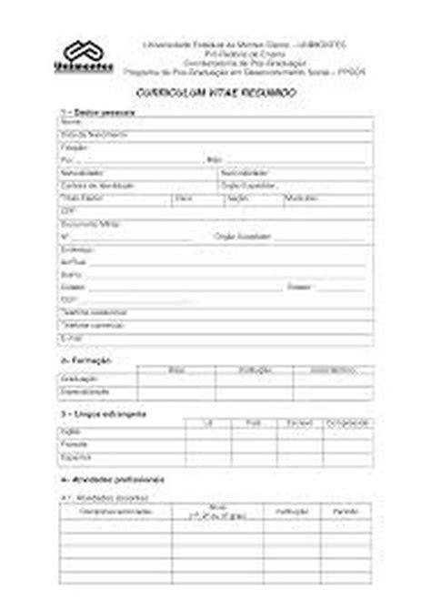 Modelo Curriculum Vitae Imprimir Curriculum Vitae Simples Pronto Para Preencher E Imprimir Criativo