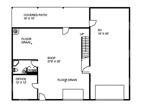 garage door floor plan plan 012g 0036 garage plans and garage blue prints from