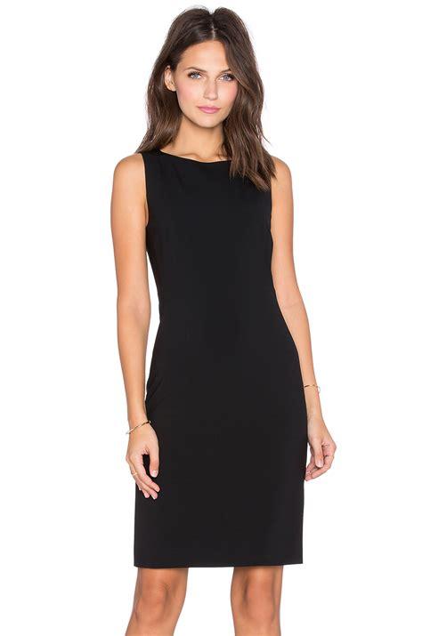 theory betty wool blend dress in black lyst