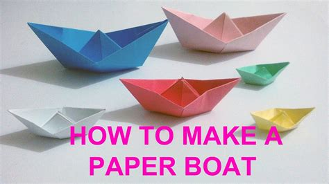 how to make a paper cool boat paper boat how to make a simple paper boat craft times
