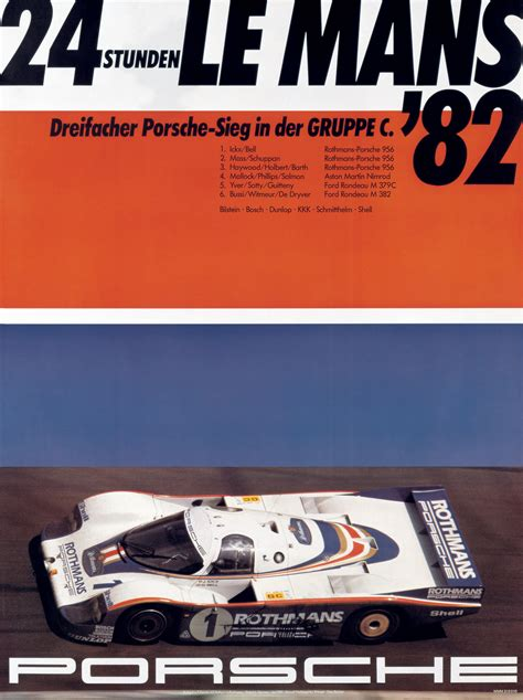 Porsche Poster by Porsche Racing Posters And Max Huber Modular 4