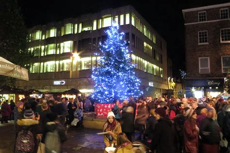 17 pictures and one video of the york christmas lights