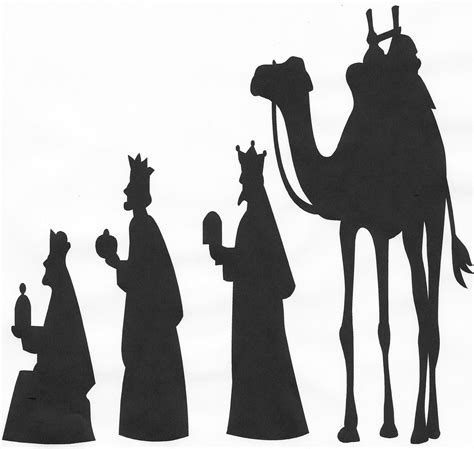 search results for print out nativity scene silhouette