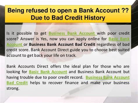 bank bad basic or business bank account bad credit to rebuild