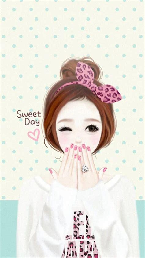 wallpaper cute korean girl cartoon 1000 images about korean cartoon on pinterest beauty