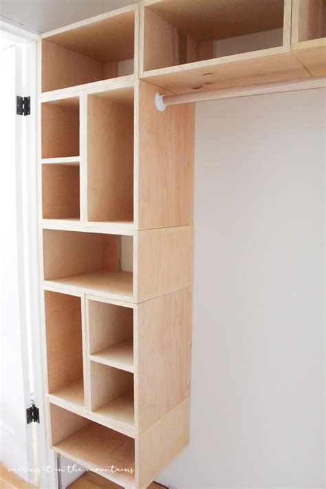 diy built in closet cabinets diy custom closet organizer the brilliant box system