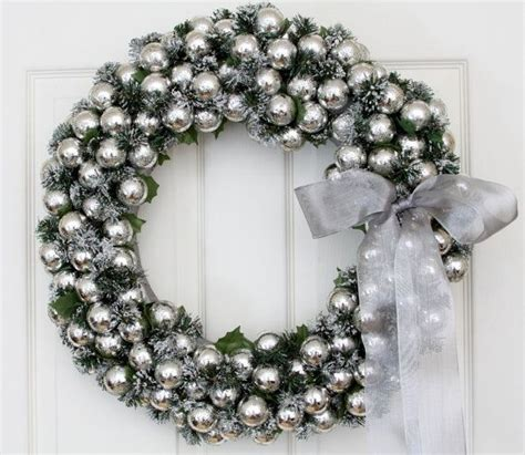 silver bells wreath holiday goodies pinterest