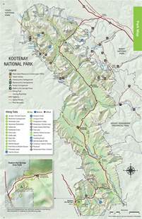 canada national park map maps