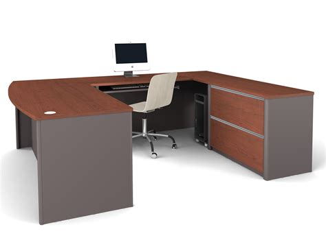 U Shaped Office Desk Bestar Connexion U Shaped Desk