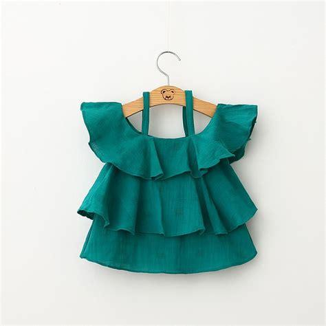 Blouse Ninos Design Zrb023 muchachas de los ni 241 os tapas de la blusa verde blanco pastel de doble capa con ropa para