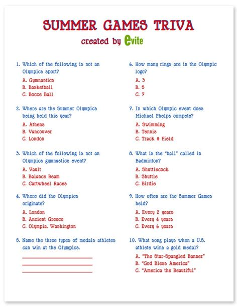 printable quiz games summer trivia printable movie search engine at search com