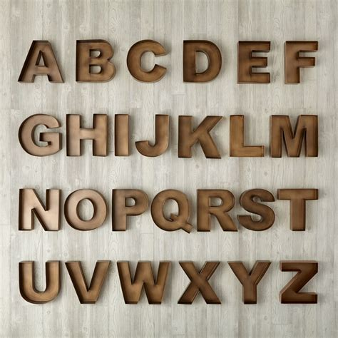 metal wood wall letters the land of nod