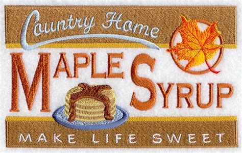 country kitchen maple syrup machine embroidery designs at embroidery library