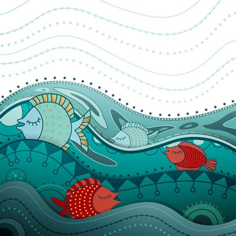 Home Graphic Design Business by Playful Marine Fish Illustration Vector Free Vector