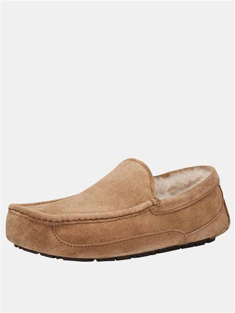 uggs slippers for ugg mens ascot slippers in brown for chestnut