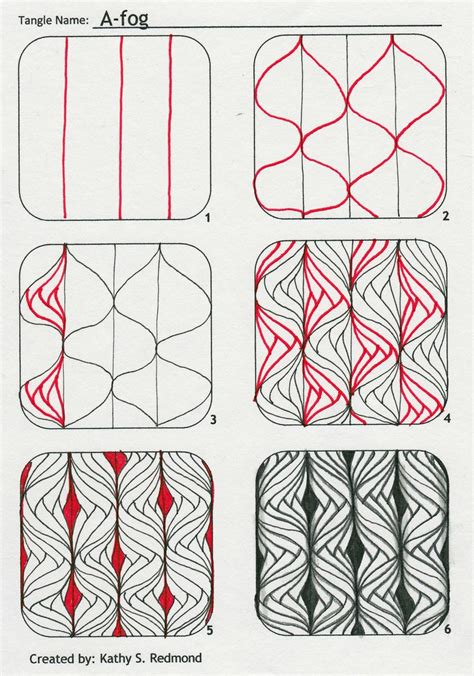 String Designs Step By Step - zentangle patterns step by step images something