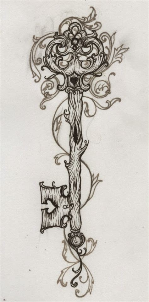skeleton key tattoos designs key kootation