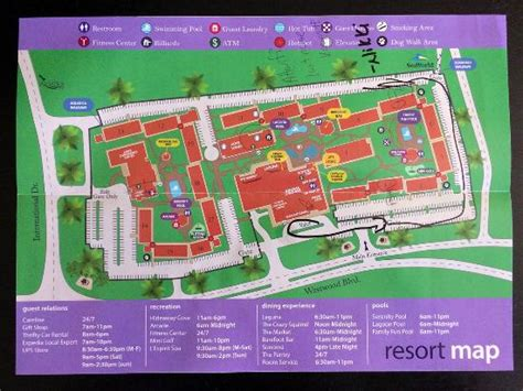 sea resort map resort map picture of doubletree by orlando at