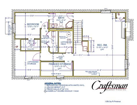 basement floor plan craftsman basement finish colorado
