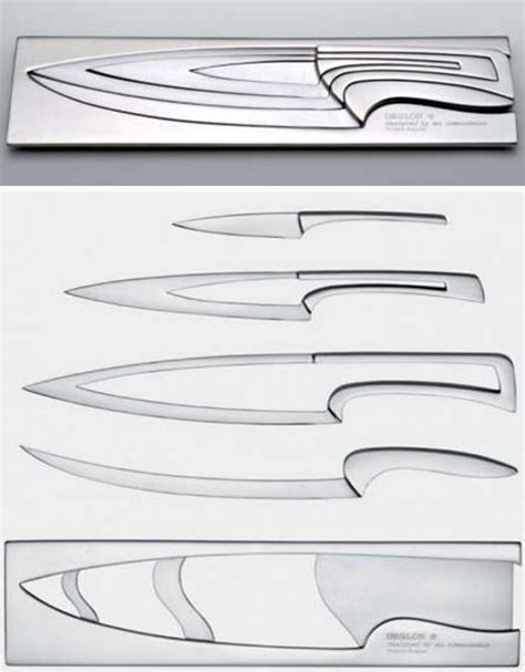 Nesting Kitchen Knives Nesting Chef S Knives Scary But Clever Kitchen Cutlery Set