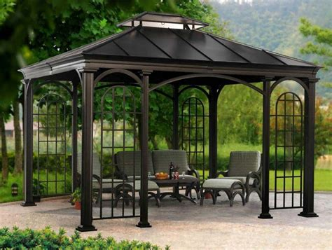gazebo costo costco cedar gazebo gazeboss net ideas designs and