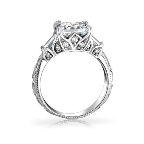 vintage filigree princess cut engagement ring gatsby inspired