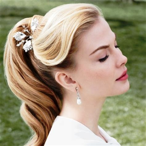side view of pulled back hair in a bun pin by sarah guy on wedding pinterest