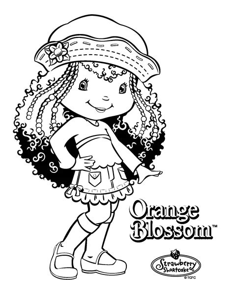 free coloring pages of orange blossom