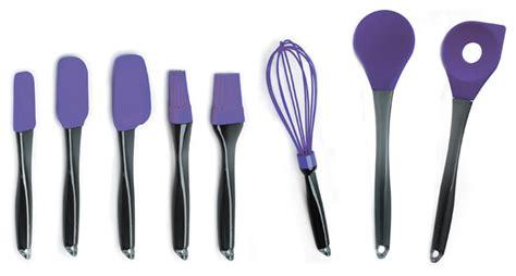 geminis 8 silicone purple utensil set