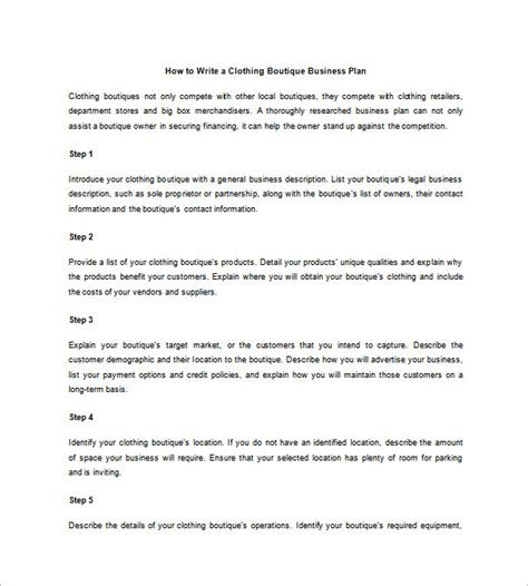 bookstore business plan template clothing store business plan template viplinkek info